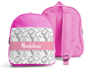 PERSONALISED SMALL KIDS BACKPACK - BUNNY