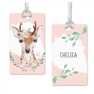 Double Sided Personalised Deer Bag Tags