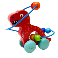 Personalised Dinosaur Wise Bead Toy