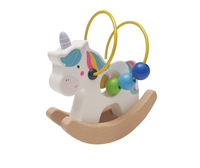 Personalised Wooden Unicorn Wise Bead Toy