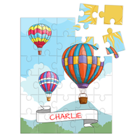 Wooden Name Puzzles - Hot Air Balloons