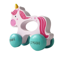 Personalised Wooden Unicorn Wheelie
