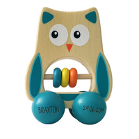 Baby Owl Wheelie Rattle
