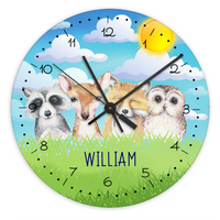 Personalised Forest Animals Wall Clock