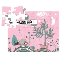 Wooden Name Puzzles - Pink Forest