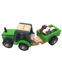 Personalised Wooden Tractor with Animals