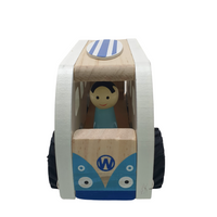 Personalised Wooden Blue Combi Van