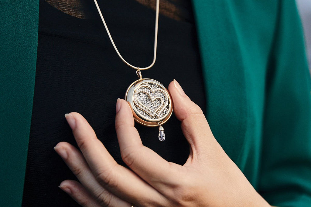 The Hemisphere Necklace (with Heart-to-Heart)