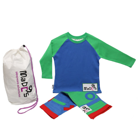 Noughts and Crosses boys pyjama SET from MADC'S - long sleeve