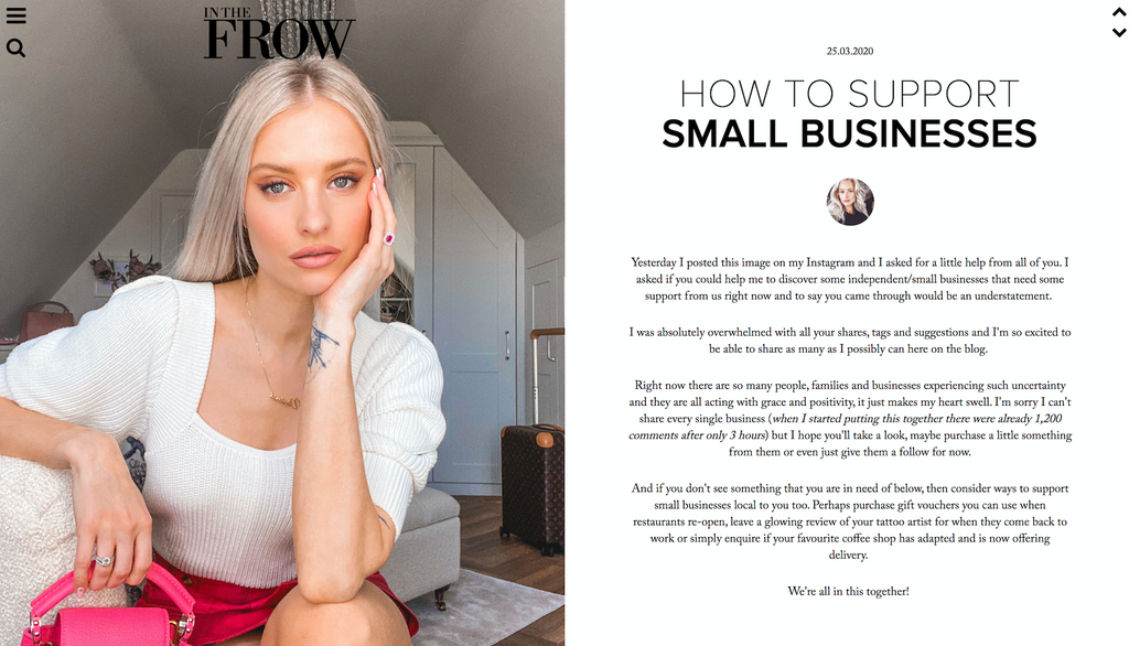 Yogi Bare Feature on InTheFrow's Favourite Small Businesses To Support