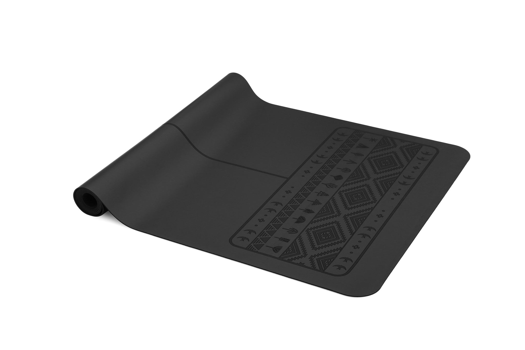 Paws Light - Natural rubber extreme grip yoga mat - Black - Travel version