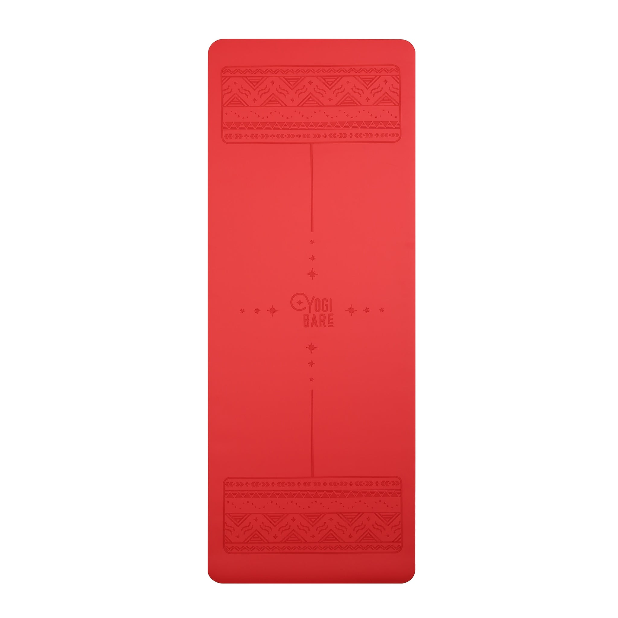 Paws - Natural rubber extreme grip yoga mat - Red