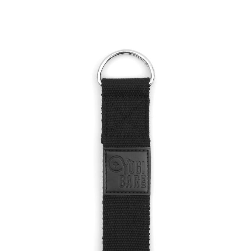 Yoga stretching strap black