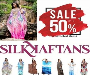 shopping adv - Silk kaftan