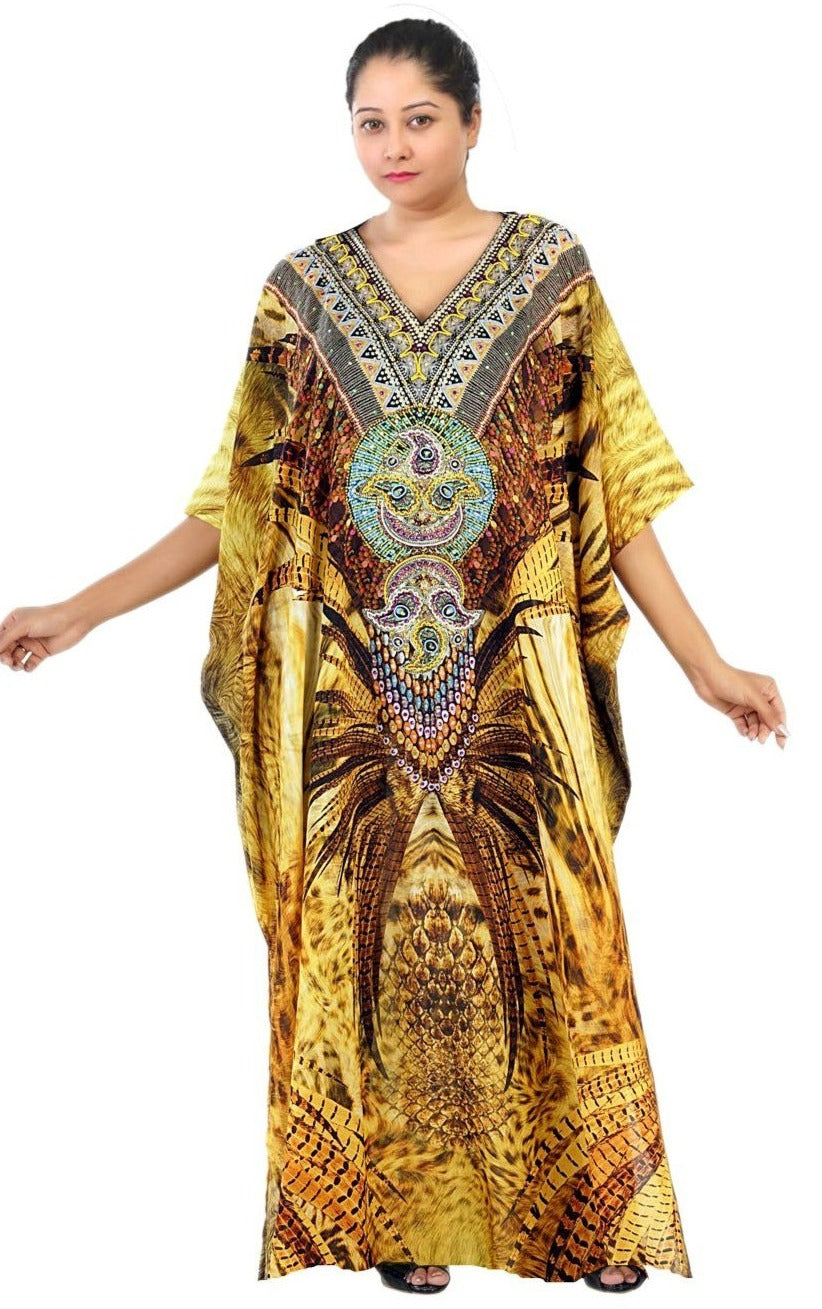 Silk Beach wear kaftan Plus size silk kaftan Luxury kaftan Swim cover up kaftan silk dress silk resort wear kaftan