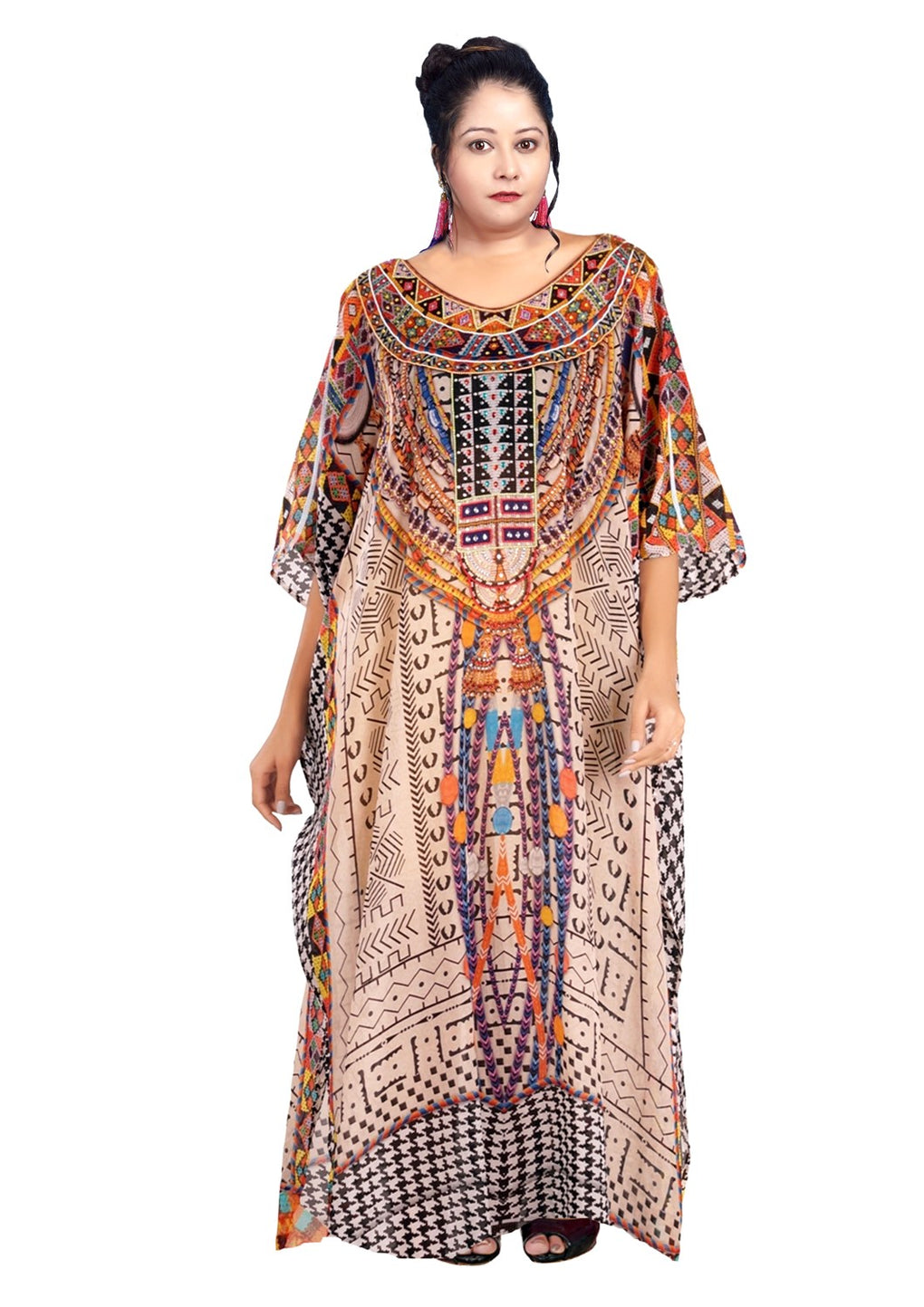 cream kaftan dress