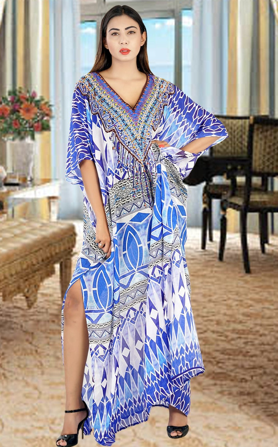 Silk kaftan plus size silk caftan for women light weight silk kaftan - Silk kaftan