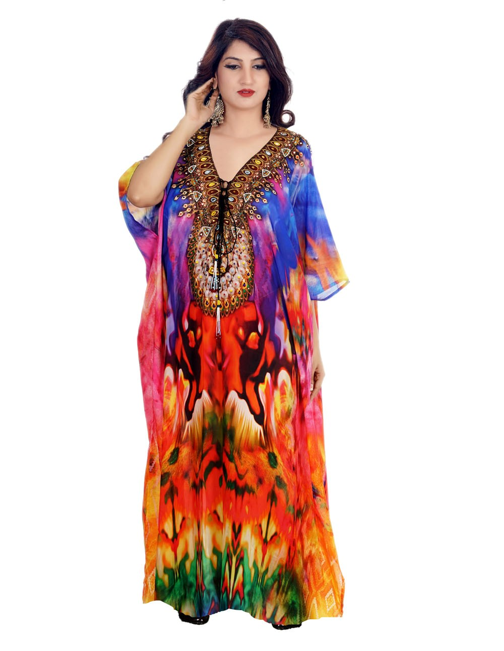 Designer Print Plus size Full Length Kaftan for shorties cruise wear kaftan resort wear kaftan for women