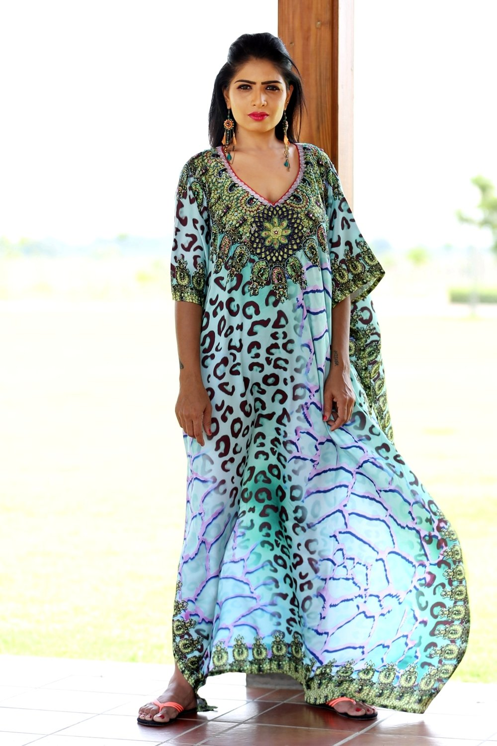 butterfly kaftan dress
