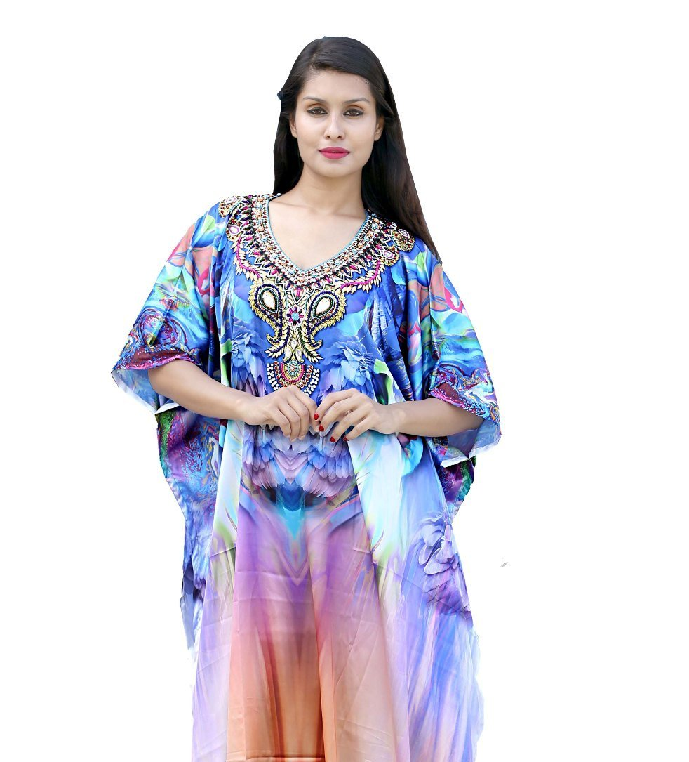 beaded kaftan dress