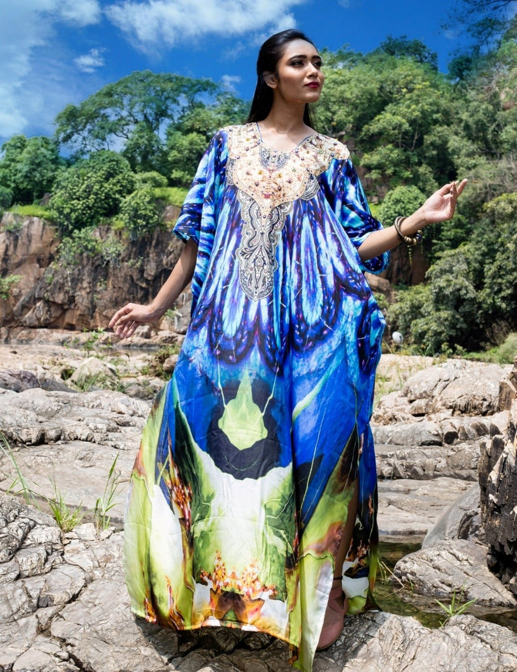 caftan beach cover up