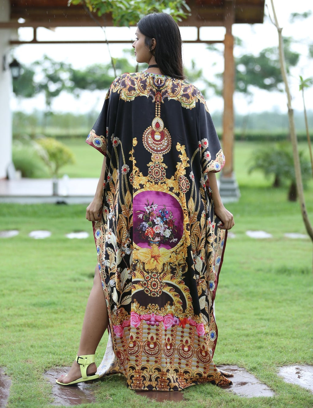 Silk looks and feel kaftan one piece dress on sale/jeweled/handmade/caftan beach cover up hot look luxuries Resort party kaftan - Silk kaftan