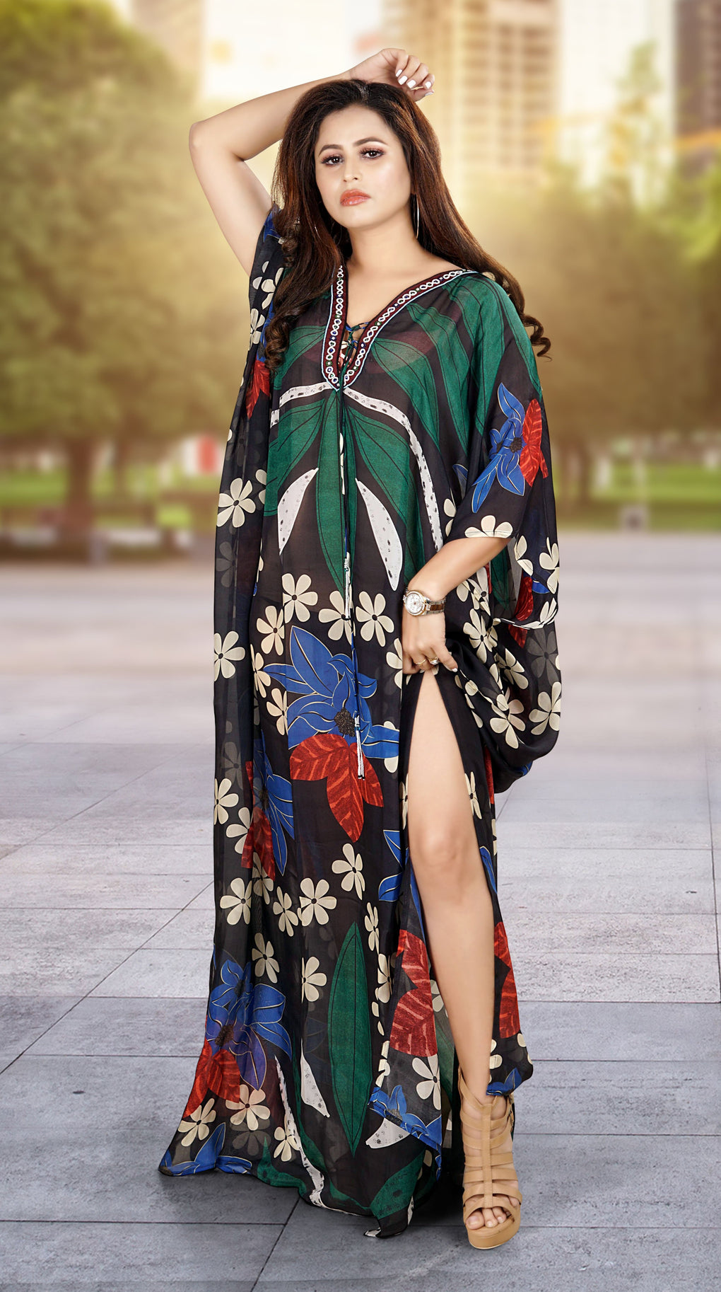 lightweight cotton kaftans