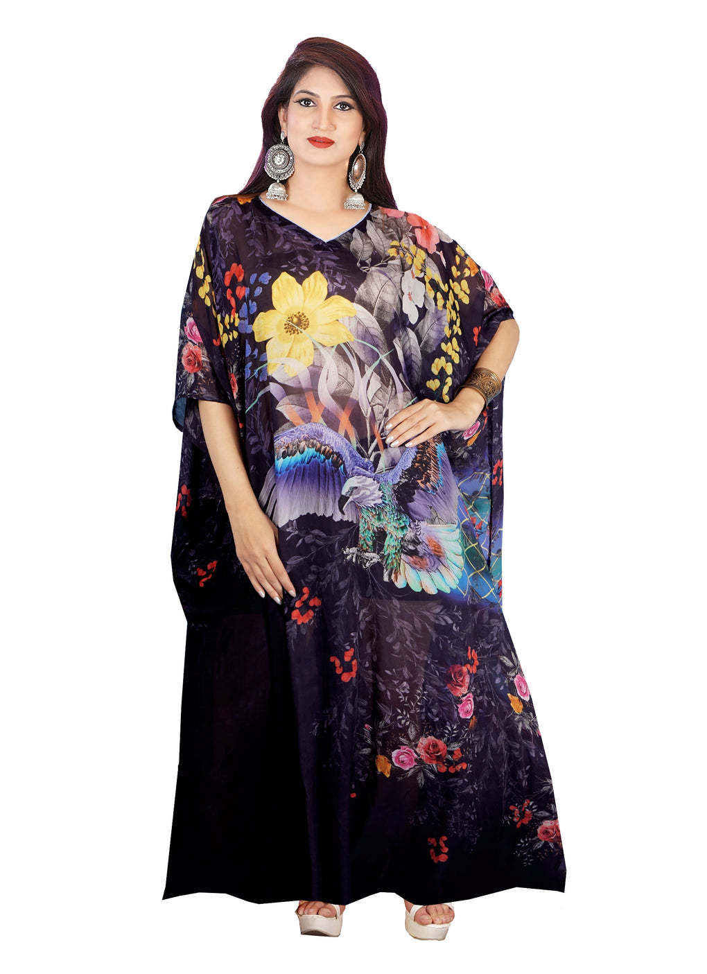 Luxury kaftan Jewelled silk kaftan Beaded kaftan Beautiful kaftan Silk kaftan dress for short women - Silk kaftan