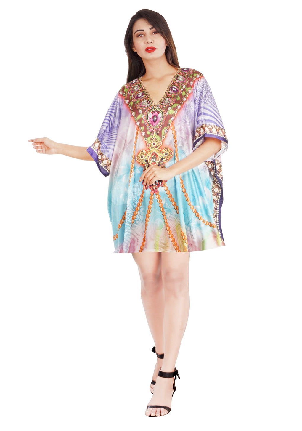 Short kaftan Resort wear for women Swimwear kaftan Beach wear kaftan Kaftan for sale - Silk kaftan