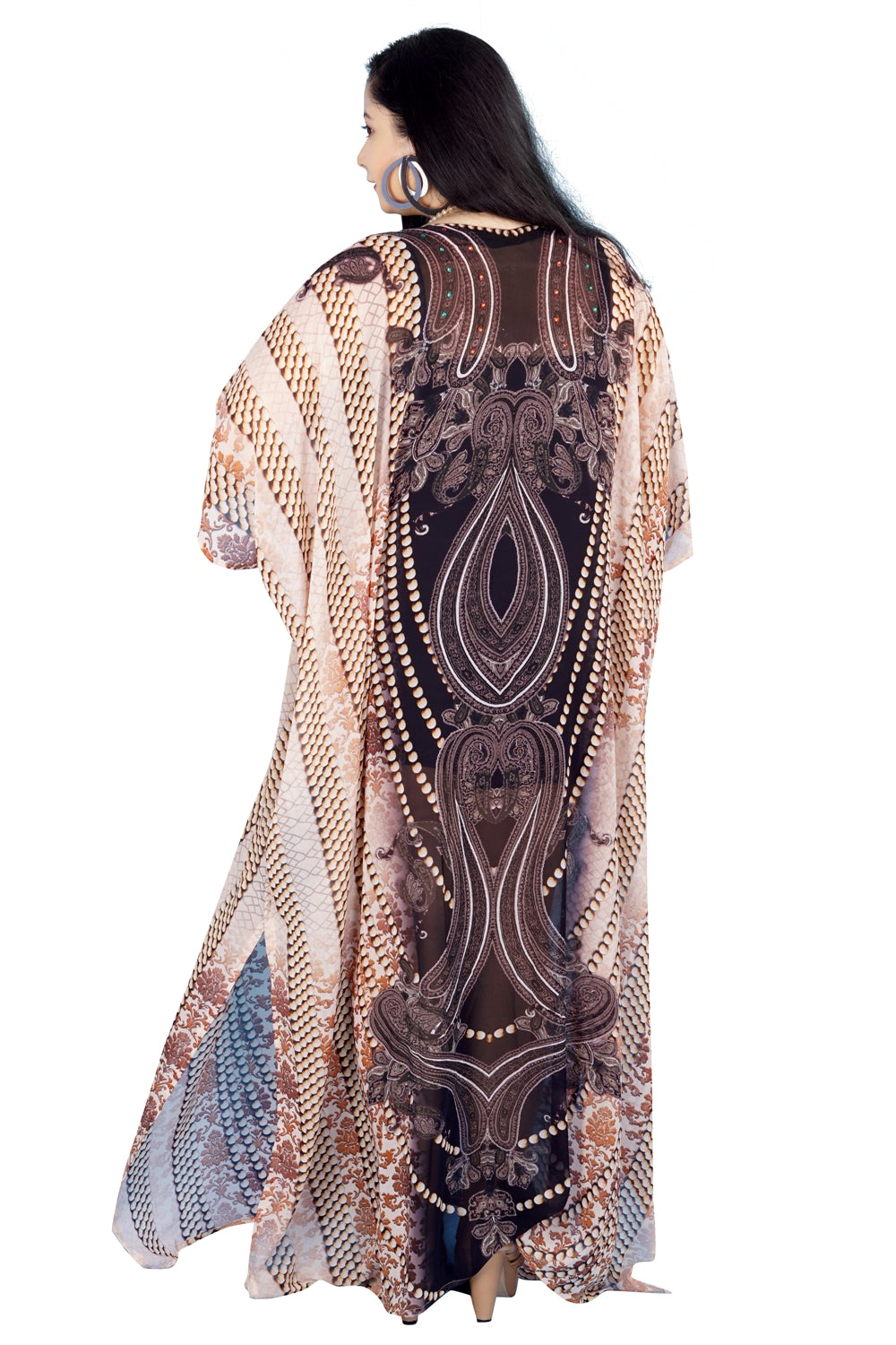 gold kaftan dress