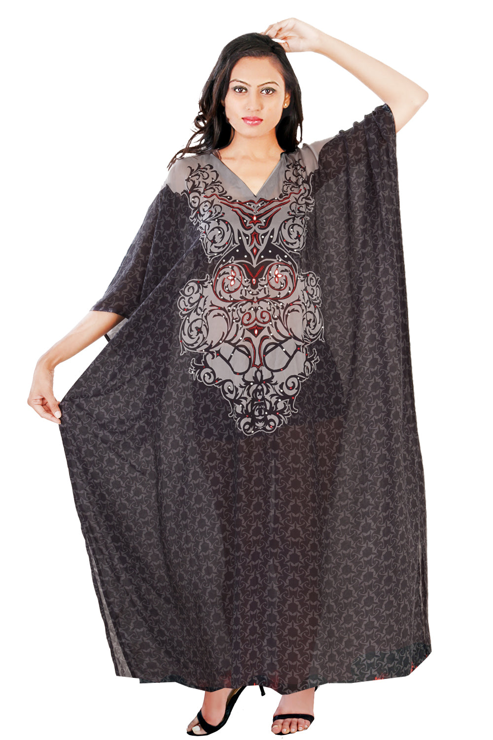 Beach cover up kaftan Bikini kaftan Print Kaftan Evening kaftan Plus size kaftan Hand made kaftan - Silk kaftan
