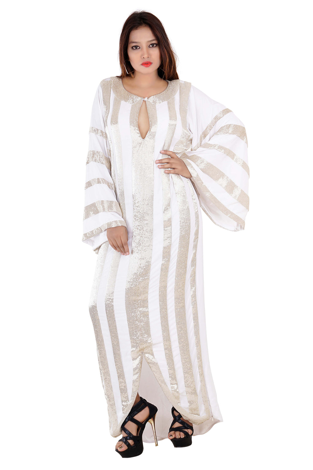 Dubai Kaftan Wedding kaftan Long Dress Farasha Maxi Dress Jalabiaya Abaya Caftan - Silk kaftan