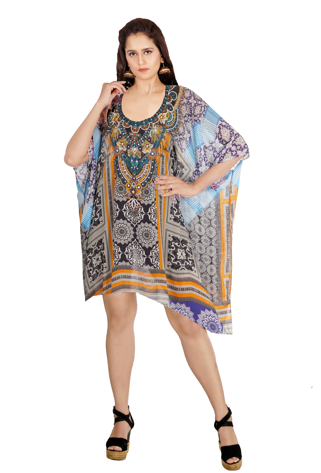 Resort wear for women Silk caftan tunic for women luxury resort wear Caftan Dress Elegant kaftan - Silk kaftan