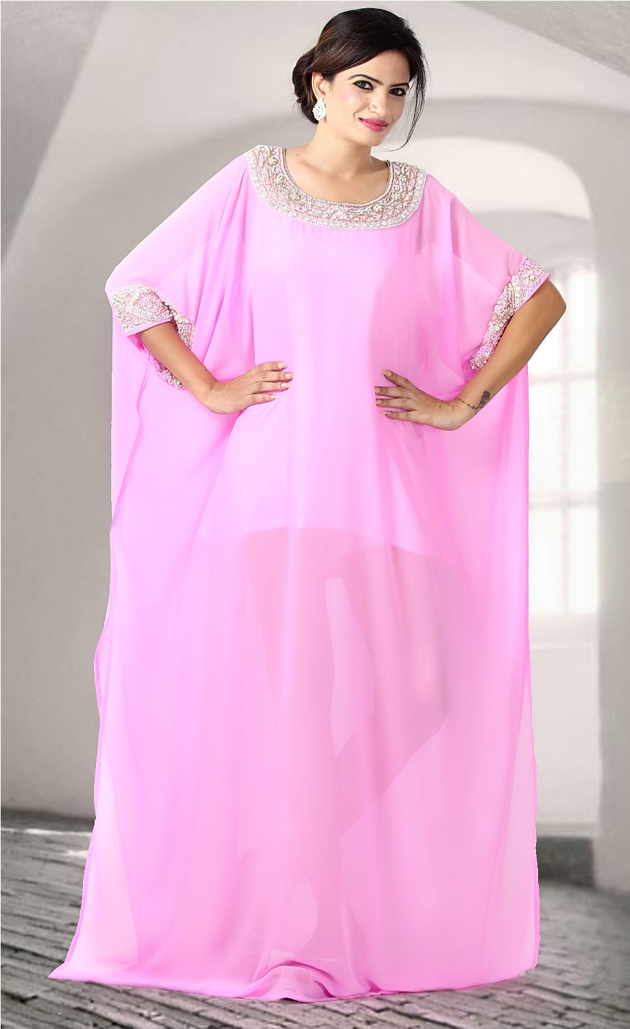 Party wear kaftan Dubai Kaftan Wedding kaftan Long Dress Farasha Maxi Dress Jalabiaya Abaya Caftan - Silk kaftan