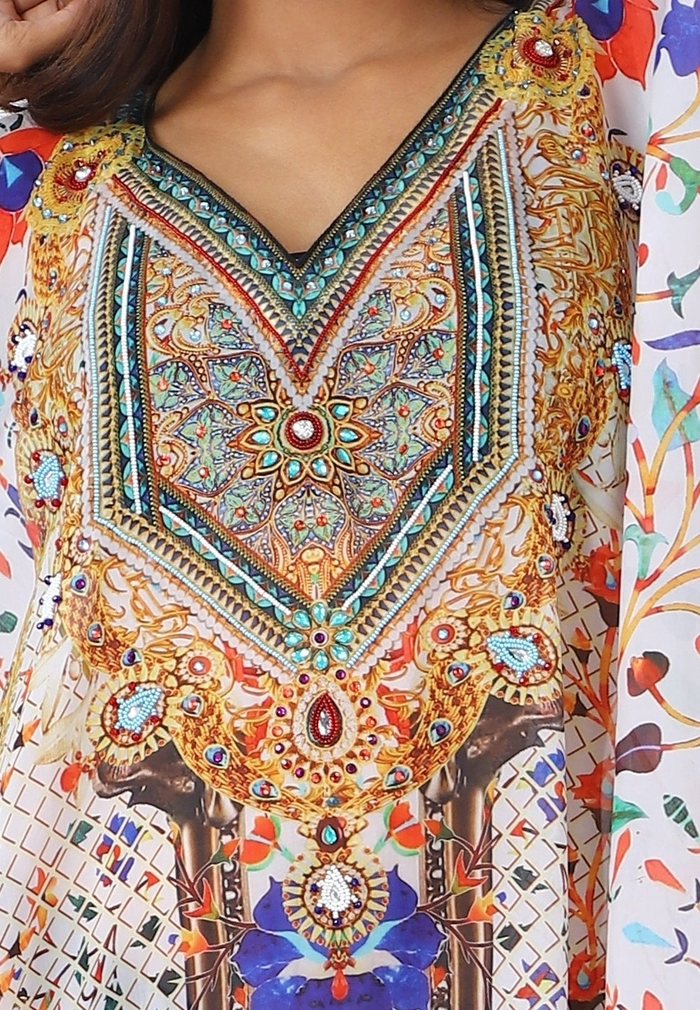 short kaftan tops