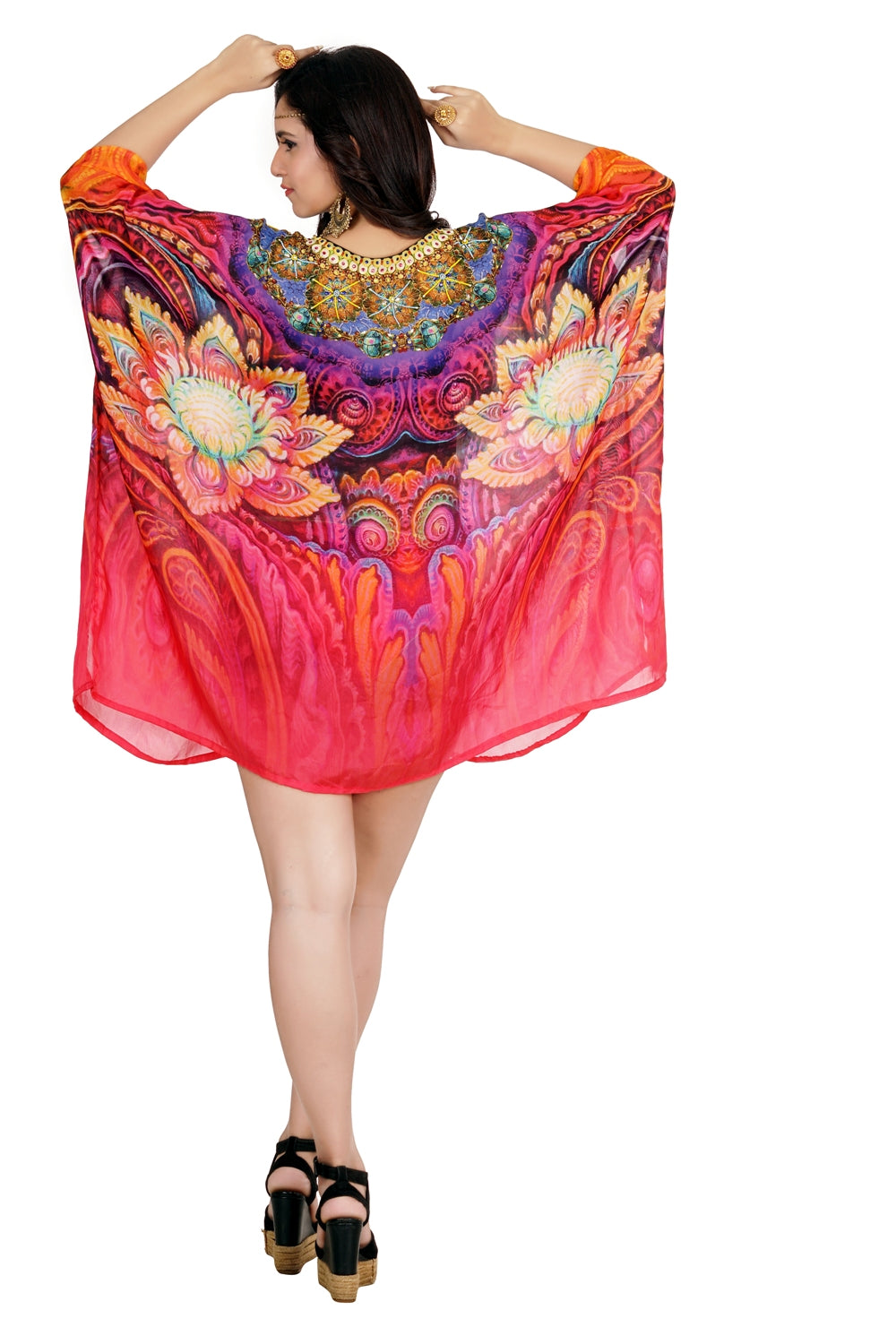 Silk kaftan tunic Party dress caftan plus size beach wear resort wear caftan womens silk caftan swim wear kaftan - Silk kaftan