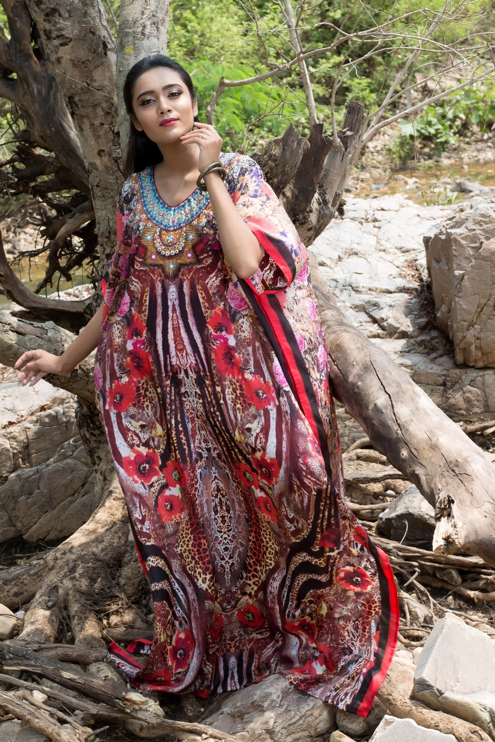 womens long kaftan