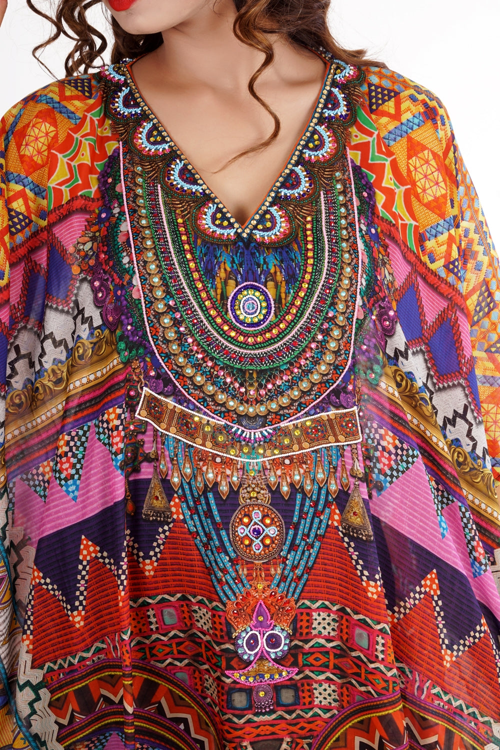 viscose kaftan dress