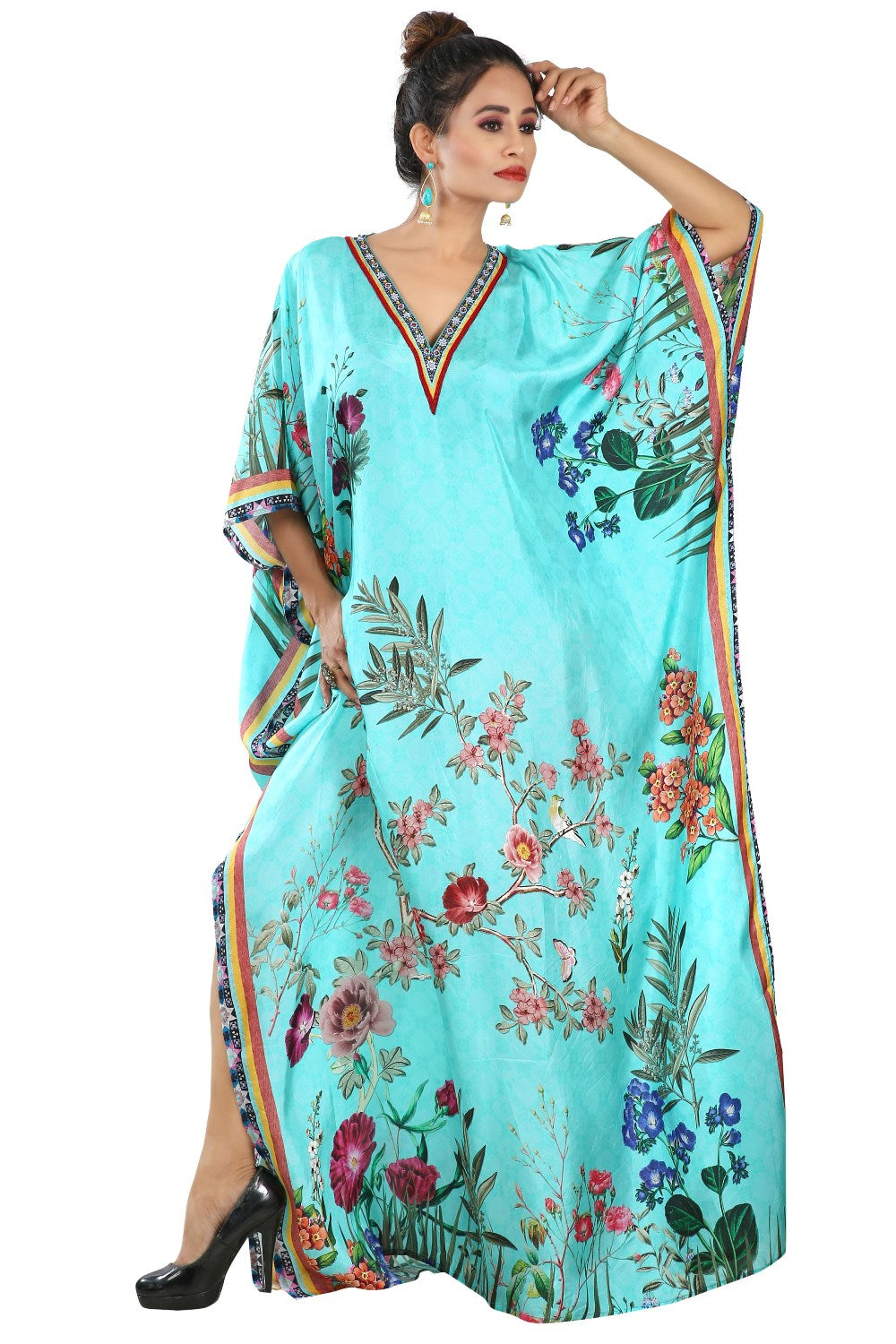 Floral print kaftan beach cover up buy caftan online