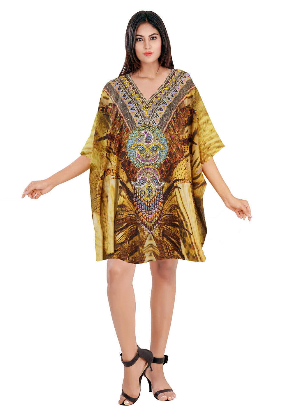 Silk caftan tunic kaftan for sale Beach wear silk cover up kaftan silk short kaftan - Silk kaftan