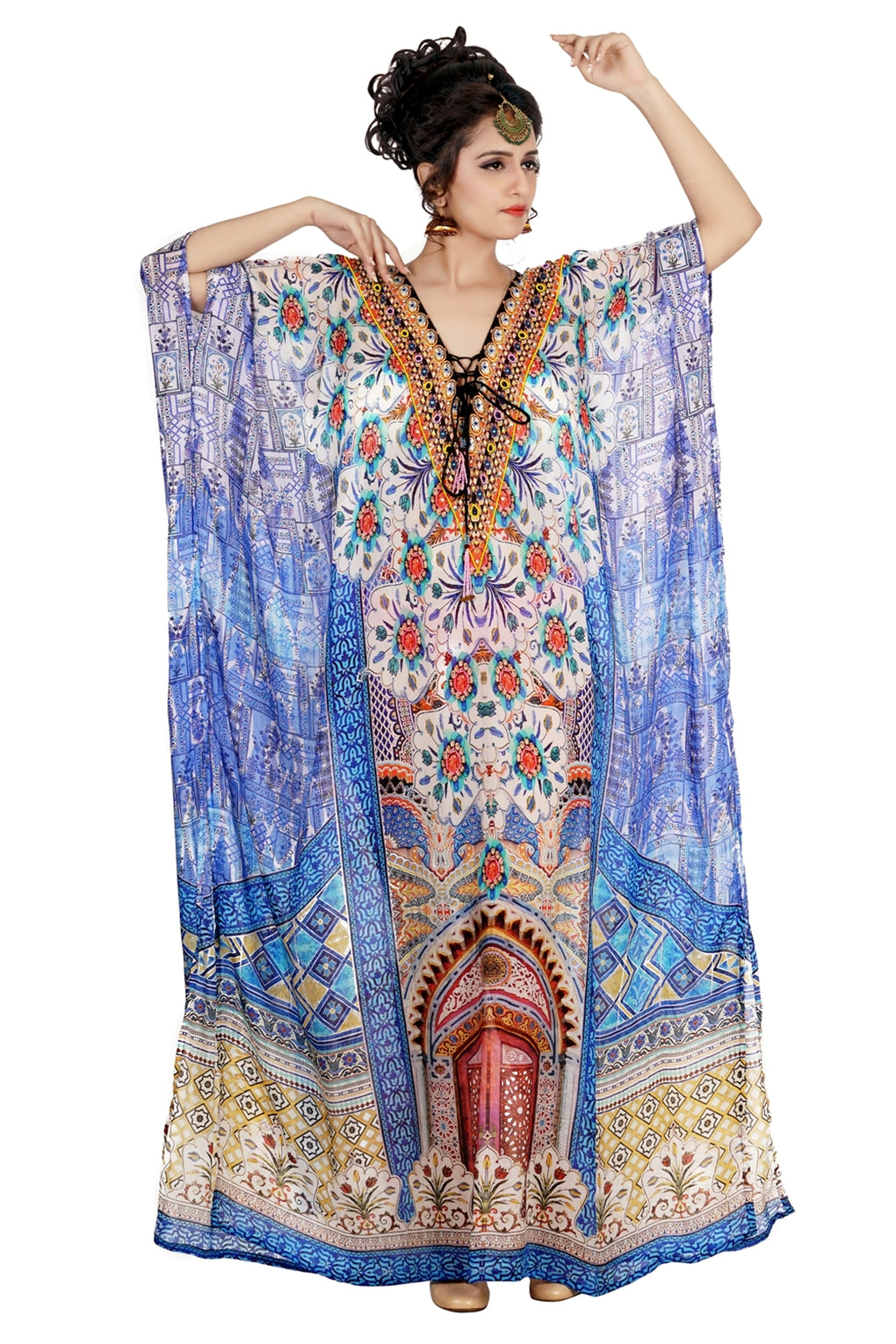 georgette kaftan dress