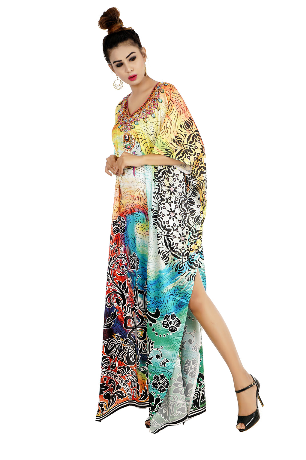 Resort Wear kaftan dress for beaded/one piece jeweled full length kaftan/long kaftans/luxury resort wear caftan plus 98 - Silk kaftan