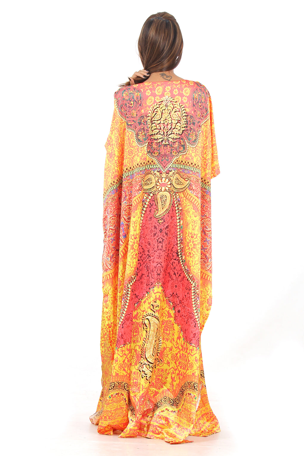 Silk looks and feel kaftan one piece dress on sale/jeweled/handmade/caftan beach cover up hot look luxuries Resort party kaftan 95 - Silk kaftan