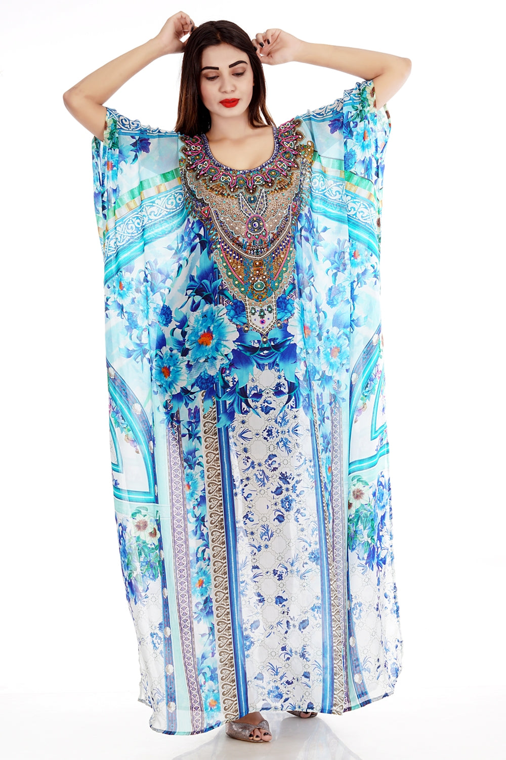 blue beach kaftan