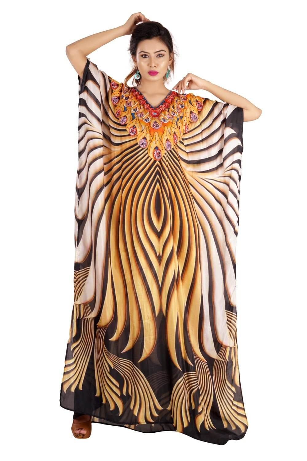 tiger print gown