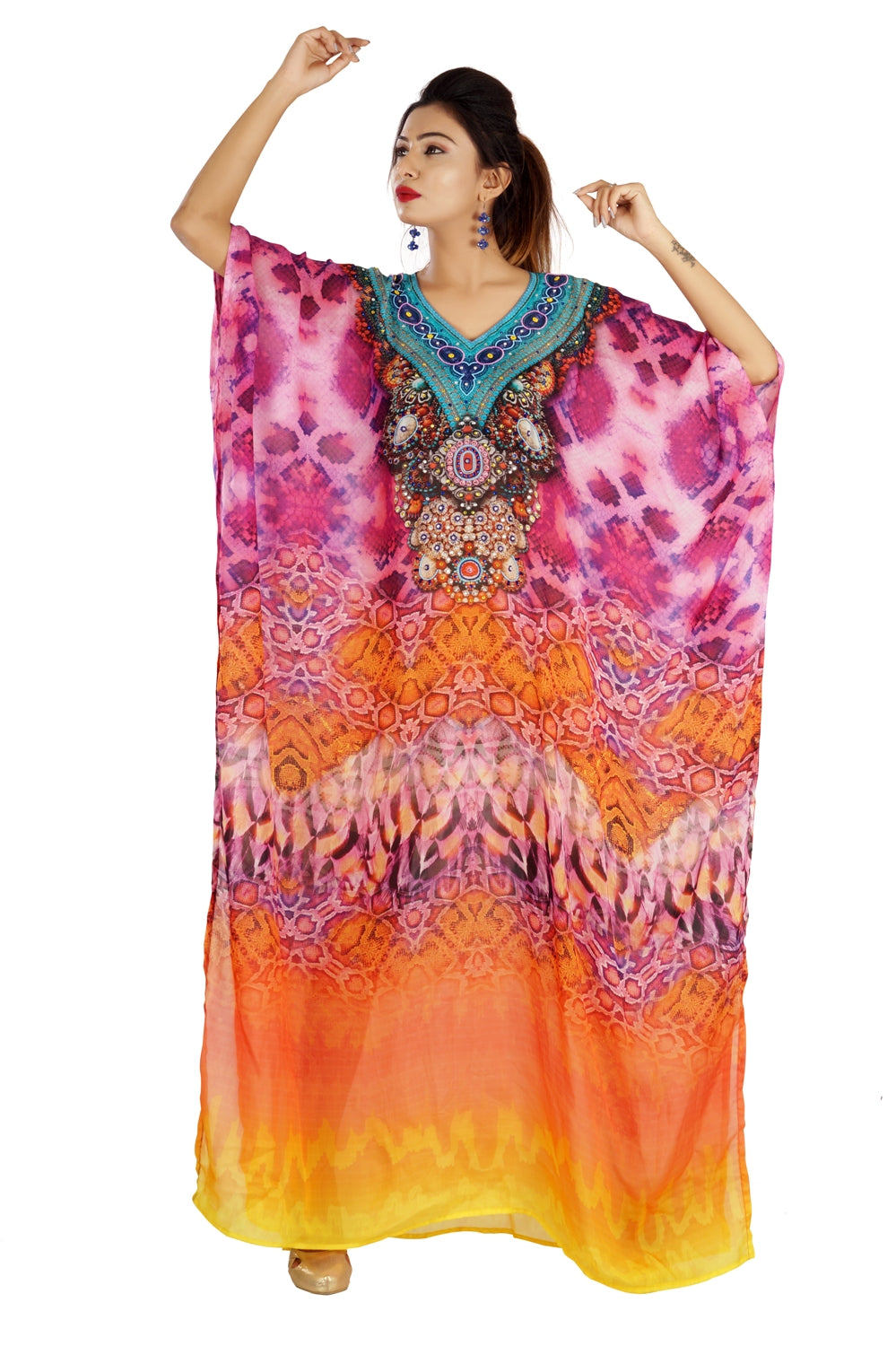 kaftan wrap dress