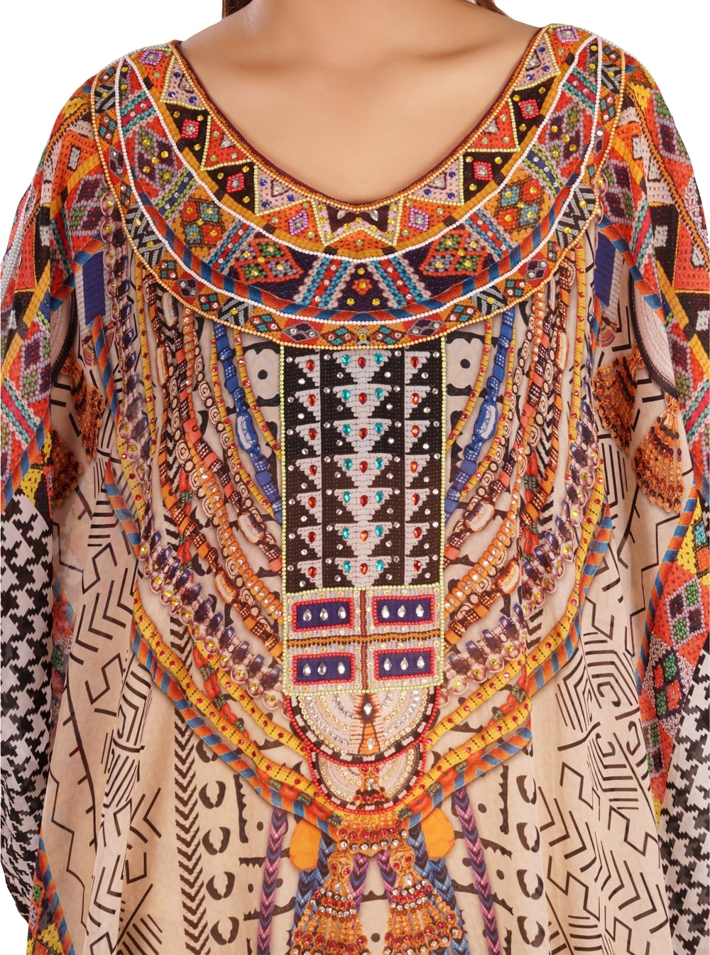 silk kaftan for women
