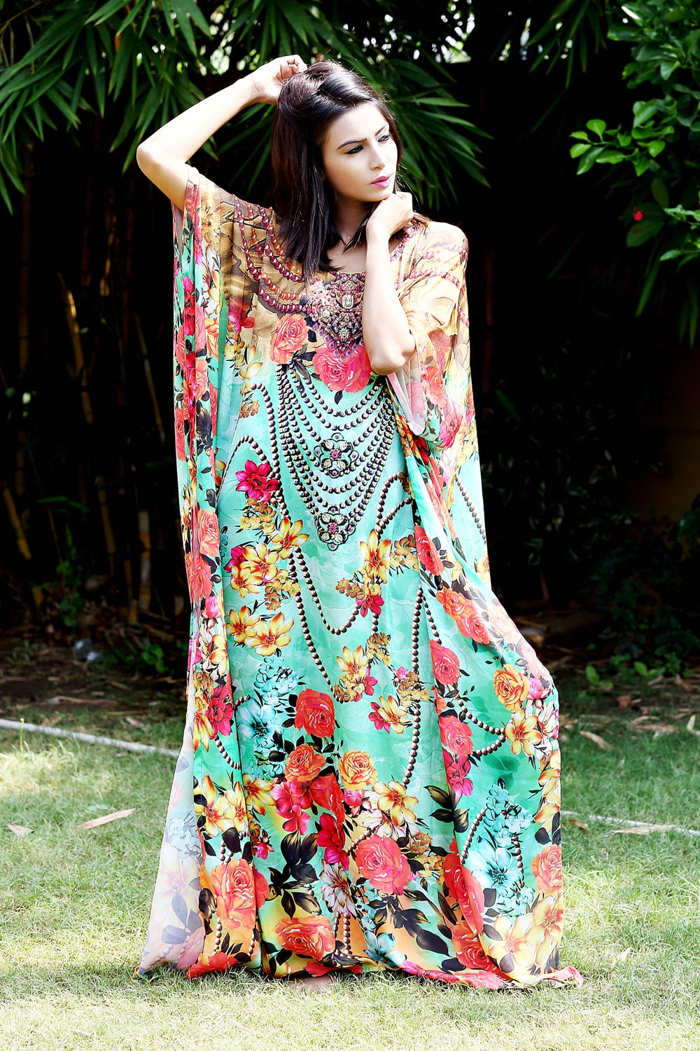 silk kaftan dresses