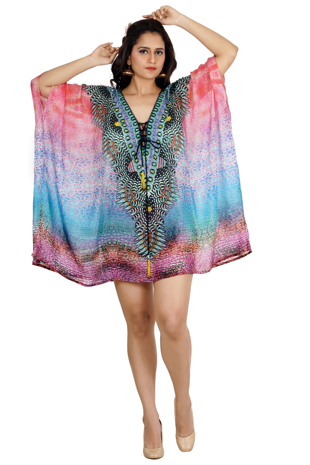 lace kaftan cover up