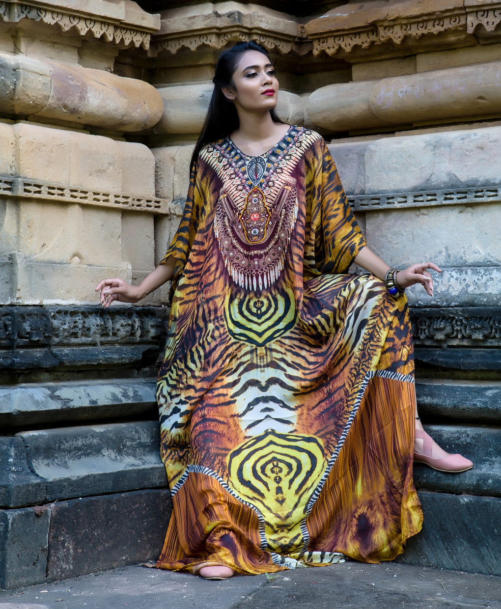 long cotton kaftans